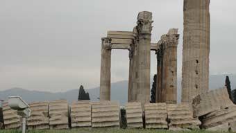 Ancient ruins, Athens Greece, ken curtis' spring break