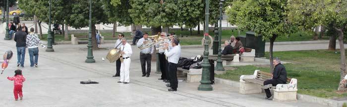 Ken Curtis spring break trip to Athens, musicians