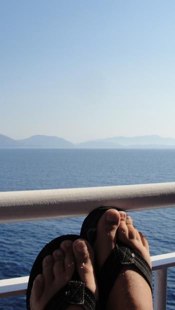 ken curtis' summer 2011 trip, ferry ride from Bari, Italy to Greece